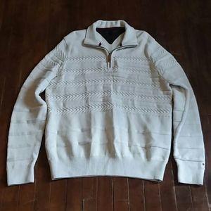 Tommy Hilfiger mens large Half zip sweater